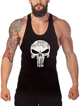 YunPeng Mens Fitness Bodybuilding Sport Tank Top Sleeveless Y-Back Muscle Vest