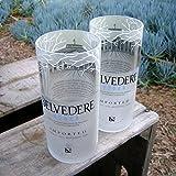 Belvedere Vodka Rocks Gläser-Set von 2Tolles Geschenk innen Design