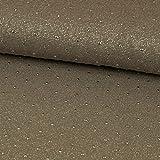 Viskosejersey Tupfen Glitzer Lurex taupe Modestoffe - Preis gilt für 0,5 Meter -