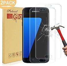 Galaxy S7 Schutzfolie Panzerfolie,9H Härtegrad HD Klar Anti-Kratzer Panzerglasfolie Gehärtetem Glas Displayschutzfolie Displayschutz für Samsung Galaxy S7