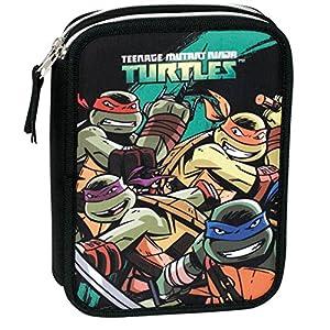 Turtles – Plumier 12 Doble, Color Verde y Negro (Montichelvo Industrial 29940)