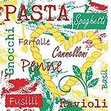 Sovie HOME Linclass® Airlaid Serviette Pasta | saugstark und reißfest | für italienisches Fler auf Ihrem Tisch | 12 Stück