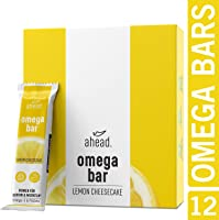 ahead® OMEGA BAR 12er Box Energieriegel mit DHA Omega-3 für die Gehirnleistung¹ – Proteinriegel mit Hafer und...