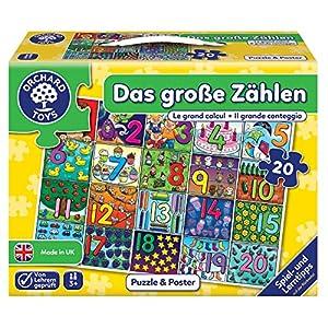Orchard_Toys 10243-Puzzle, el Grosse Contar, 20Piezas, 61x 42cm