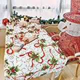 VSTON tovaglia natalizia per la decorazione della tavola di Natale Pulire Pulire impermeabile, dimensioni rettangolari 55 x 71 pollici (140x180 cm)