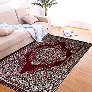 Buy The Home Talk Maroon Chenille Multicolor Carpet Rug