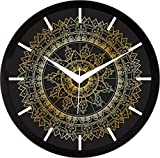 #3: IT2M 11.75 inch - Tribal Rangoli Wall Clock (9096)