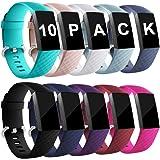 Zekapu pour Fitbit Charge 3 Bracelet, Classique Réglable Bracelet De Rechange avec Classique en Aluminium Boucle en Alliage Compatible pour Fitbit Charge 3, Grand Petit, Femme Homme
