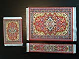 Set Red Woven Rug Mouse Pad + Rug Coaste...