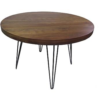 Esstisch Eiche Massivholz Natur Geölt Tisch Rund 140 X 76 Cm