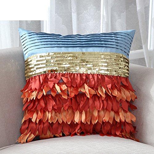 American Village3Dcopertura del cuscino della moda tridimensionale/copertura del cuscino applique paillettes/Ufficio creativo/cuscino stoffa Divano-A