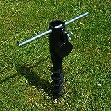 Land-Haus-Shop Sonnenschirmhalter/Schirm Halter/Erdspieß Schwarz Zum Eindrehen/Wäschespinne Halter/Standfuß / Masthalter, Einschraub Bodenhülse Robust