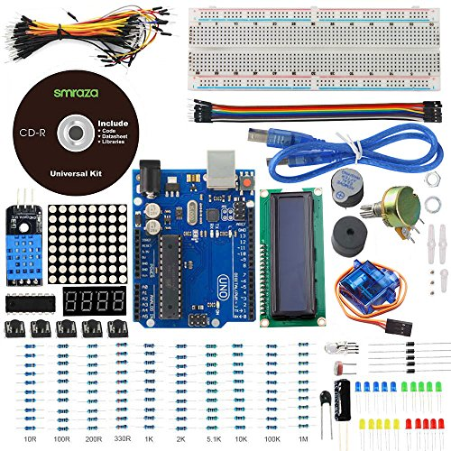 SMRAZA UNO PROJECT BASIC STARTER KIT WITH UNO R3 1602 LCD AND TUTORIALS FOR ARDUINO MEGA2560 NANO ROBOT