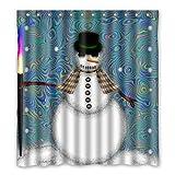 Personal Custom Brauch Schneemann Wasserdicht Polyester Shower Curtain Duschvorhang 167cm x 183cm