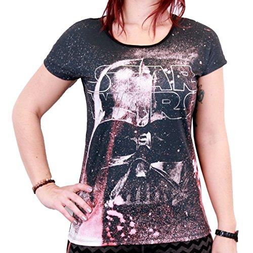 cotton division Damen T-Shirt Noir Femme