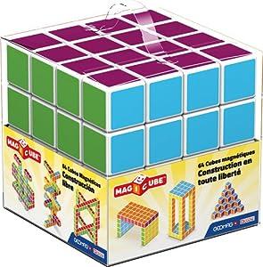 Geomag- Magicube Free Building Cubos magneticos,, 64 Piezas (129)