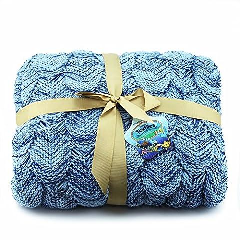 Luxus Meerjungfrau Schwanz Decke mit Häkel Handgestrickte Waage Wrap Tagesdecke/Überwurf für Erwachsene von Kreative krafttm, Blau, Erwachsene