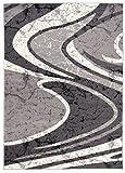 Carpeto Rugs Tapis Salon Gris 300 x 400 cm Moderne Vagues/Monaco Collection