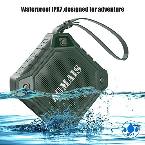 Wireless Bluetooth Lautsprecher, AOMAIS OUTDOOR Tragbarer Kablellose Wasserdichter IPX7 Bluetooth Lautsprecher: Stereo-Pairing Funktion, Lauter Lautstärke mit Bass, 8W Ausgang, Für Smartphone, Tablet, PC, Laptop, MP3 (Grün)