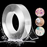 RINTO Double Sided Tape Heavy Duty   Washable Nano Mounting Tape    Grip Removable Traceless Transparent Tape    Strong Stick