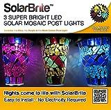 Solar Brite mit 3 superhellen LED Solar Steckleuchte Mosiac