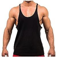 L&L® New Mens Plain Gym Vest Bodybuilding Muscle Stringer Vest Y Back Racerback LOT