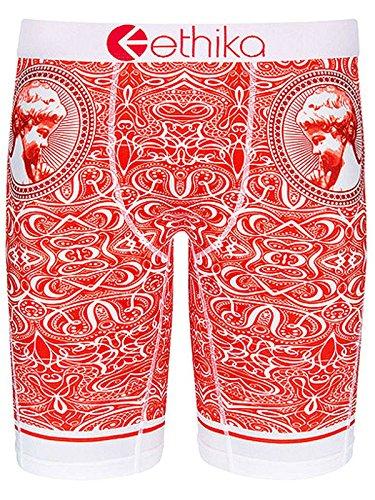 Ethika Men's The Staple All In Sheckler Boxer Brief Underwear Red