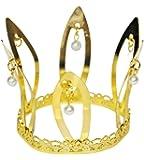 Funny Fashion Prinzessin Krone Gold - Tolles Accessoire für Karneval, Mottoparty, Geburtstag oder Junggesellenabschied