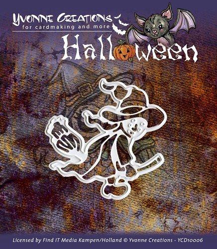 Stanz- und Prägeschablone Yvonne Creations - Halloween - Hexe