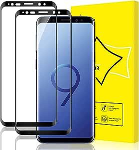 Giiyoon Tempered Glass For Samsung Galaxy S9 Full Screen 9h Hardness Anti Bubble Anti Scratch Protective Film Galaxy S9 Screen Protector For Galaxy S9 Pack Of 2 Elektronik