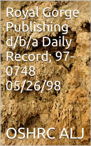Royal Gorge Publishing d/b/a Daily Record; 97-0748  05/26/98 (English Edition)
