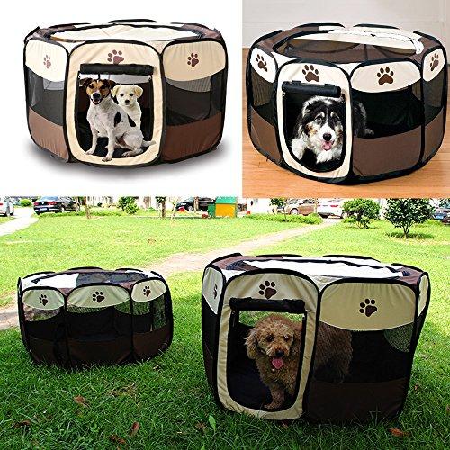 Greenpromise Pet Käfig Supplies 600D Oxford Dog Carrier Laufgitter für Hund Katze Zaun Hundehütte Dog House Outdoor Cat House Laufgitter Übung (Pet Carrier Dog House)
