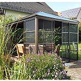 Aluminium Pavillon Überdachung Gazebo Castel 10x12 // 362x298 cm (BxH) // Sommer-Pavillon und Gartenlaube mit Hard-Top Dach von Sojag