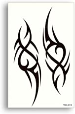 Generic Temporary 3D Hand Sticker Tattoo, 19x12cm (Black, SSRT0046M) - 1 Piece