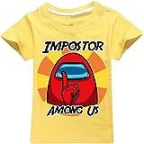 JDSWAN Unisex Niños Camiseta de Verano Impresión de Impostor Camiseta de Manga Corta Ropa Deportiva Casual Tops T Shirt para