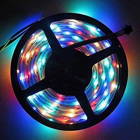 MuLucky LED-Light Strip 5630 DC12V 16.4FT / 5M 300leds flash-barra luminosa flessibile luce ad alta luminosità per casa tessuti ( Waterproof, RGB)
