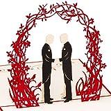 3D Hochzeitskarte Ehepaar 2 Männer 3D Pop up, handgefertigt, Ehe für alle, schwul, homosexuell, Liebespaar, Liebe, Gay Wedding, Valentinstag, Valentinstagskarte, Hochzeitseinladung