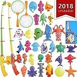 CozyBomB Angeln Spielzeug, Badespielzeug, Magnetisches Angeln Spielzeug vov Wasserdichtes schwebendes Spielzeug in der Badewanne Lernspielset zum Angelnlernen - Lehren und Lernen Aller