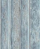 UGEPA Vliestapete Holzbohlen, Blau, J86801