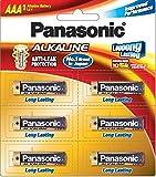#7: Panasonic Alkaline LR03TDG/6B 1.5V AAA Battery (Multicolor)