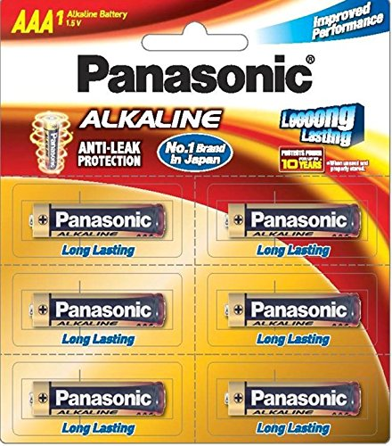 Panasonic Alkaline LR03TDG/6B 1.5V AAA Battery (Multicolor)