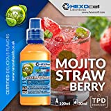 E LIQUID PARA VAPEAR - 30ml Mojito Strawberry (Mojito de fresa) Shake and Vape E Liquido para Cigarrillo Electronico, Shake n Vape Eliquido sin Nicotina