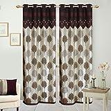 Hargunz Eyelet Jute door curtains-Brown,...