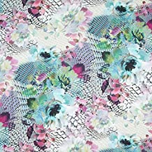 Fabulous Fabrics Tela para Blusas de Viscosa Fantasía Floral – Verde — Mercancia al Metro a
