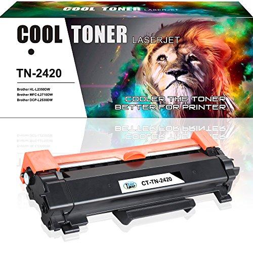 Amazon Cool Toner - Tóner compatible TN-2410 TN2420 para Brother HL-L2350DW L2310D L2357DW L2375DW L2370DN Brother MFC-L2710DN L2710DW L2730DW L2750DW Brother DCP-L2510D L2530DW L2537DW L2550DN- Re