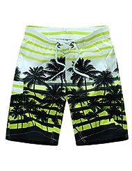 PZLL Del verano cinco-pantalón shorts casuales, ciudad chico tamaño rápido-sequedad, cortocircuitos de la playa de los hombres , green , m