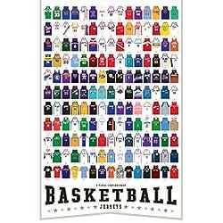 Una Compendio visual de baloncesto Jerseys–Póster (24x 36) por Pop Chart Lab