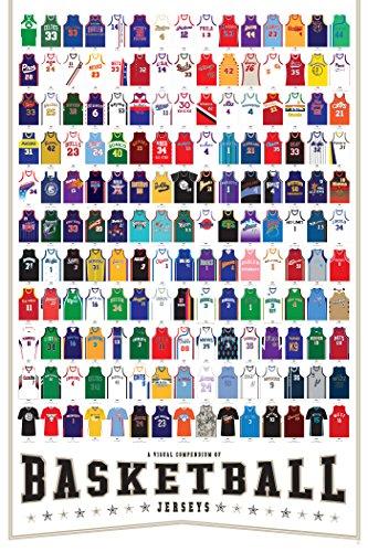 Ein visuelles Kompendium von Basketball Jerseys Plakat-Druck (24 x 36) von Pop Chart Lab