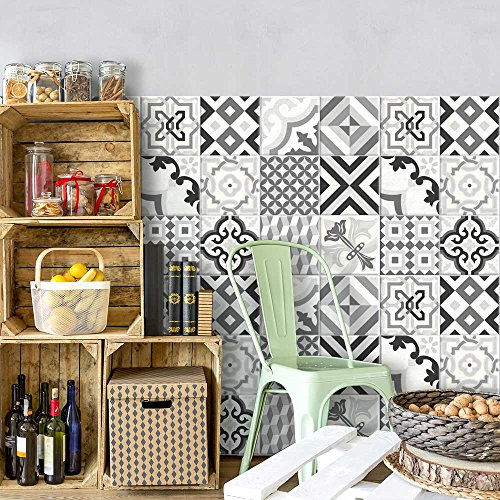 36 Adhesivo para azulejos 15x15 cm - PS00082 - Otranto - Adhesivo decorativo para azulejos para baño y cocina - Stickers azulejos - Collage de azulejos