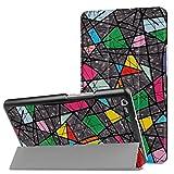 Huawei MediaPad M3 8.4 Hülle, Trocent PU Leder Ultra Dünn Tri-Fold Smart Cover Case Schutzhülle Etui Tasche mit Ständer und Auto Sleep / Wake Funktion für Huawei MediaPad M3 8.4 Zoll (Glasmalerei)